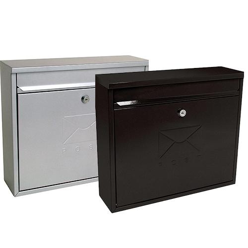 stainless steel or black elegant postbox