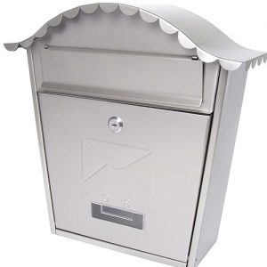 stainless steel classic postbox