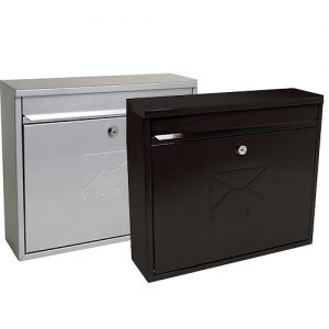 stainless steel or black elegant postbox